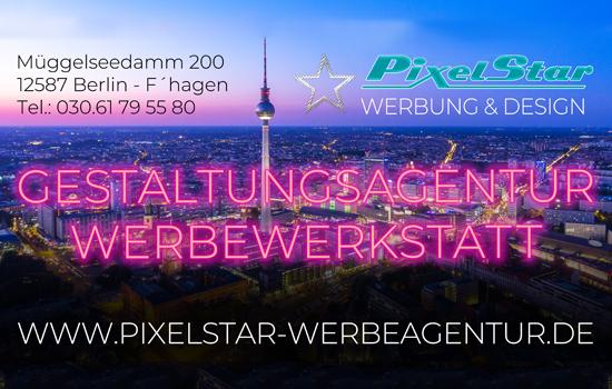 Anzeige von PixelStar GbR – Werbung und Design